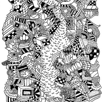 Surreal surrealism strange odd black and from fine art america for Crazy stuff to draw