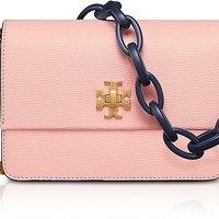 Tory Burch Kira Opulent Pink Leather Mini Shoulder Bag
