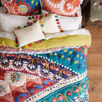 Tahla Quilt by Anthropologie in Red Motif, Bedding