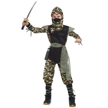 boys children girls ninja costume for kids Fancy dress halloween costume for kids baby Cosplay Costume Party fantasia carnaval