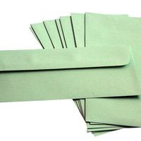 green wedding | mailing envelopes | #10 envelope | envelope mail art | plain envelope