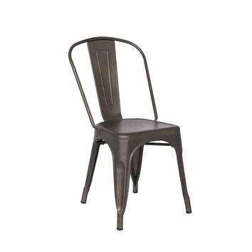 Tolix Style Dining Chair - Rust - Reproduction | GFURN