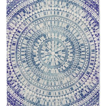 MANDALA BLUE Area Rug By Jackii Greener