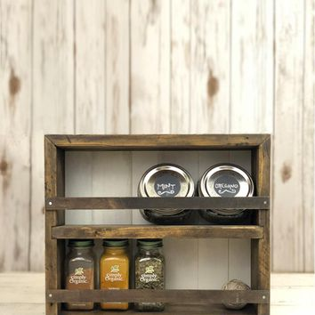 The Mansfield Cabinet No. 5 1/2 - Spice Rack / Kitchen Shelves - Wall Mount or Counter Top