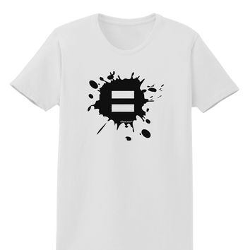 Equal Paint Splatter Womens T-Shirt by TooLoud