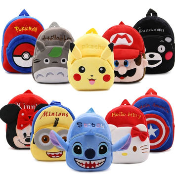 New Arrival 2017 Kids Soft Plush Cartoon Character Kindergartner Boys/Girls Backpack
