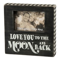 ''Love You to the Moon and Back'' 4'' x 6'' Wooden Box Frame