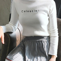Celestial Semi-Collar Sweater