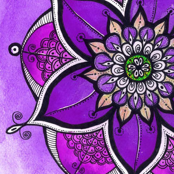 Gift for Mom painting, Yoga Studio Wall Decor, Instant Digital Download Lilac Purple Mandala Painting, Printable art Mandala, Kids Room Art