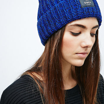 Obey Maywood Beanie in Cobalt Blue - Urban Outfitters