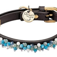 'Mini Beads' Aventurine & Turquoise Dog Collar
