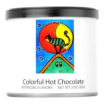 Cat and Moon Whimsical Cat Design Powdered Drink Mix