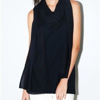 tissue jersey tank with scarf black