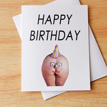 Funny Birthday Card, Boyfriend Birthday, Gift For Him, Naughty Card, Dirty Card, Sexy Card, Adult Humor, Butt Card, Erotic Card, Funny Card