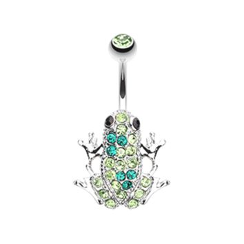 Amazon Frog Multi-Gem Belly Button Ring Navel Ring Body Jewelry