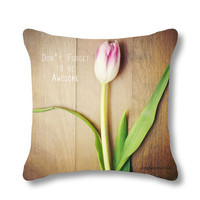 Tulip pillow, Spring decorative pillow case, throw pillow cover, floral, dreamy, pastel, cushion cover, bedding, home decor, mother's day