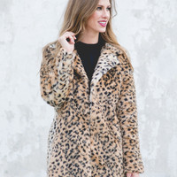 Remember Me Faux Fur Leopard Jacket