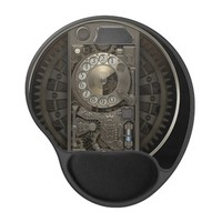 Steampunk Device - Rotary Dial Phone. Gel Mouse Pad