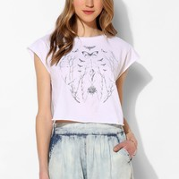 Truly Madly Deeply Butterfly Vine Cap-Sleeve Tee - Urban Outfitters