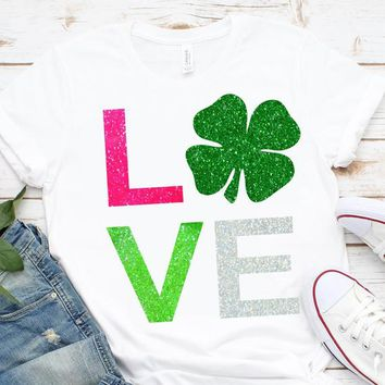 Love svg,Love Shamrock svg,Shamrock svg,St.Patrick's Day svg,Lucky Clipart,Lucky tshirt,crafty cuttable,Cricut Design,Silhouette Design