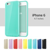 iPhone 6 Case, ESR Yippee Color Series Protective Case Bumper [Updated Version] [No Headphone Port Issue][Shock Absorbent] [Ultra Thin [Light Weight] ] [Scratch-Resistant] [Perfect Fit] Soft TPU Back Cover for 4.7 inches iPhone 6 (Mint Green)