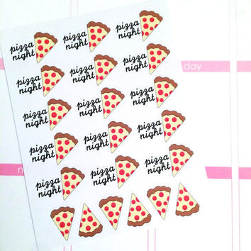Pizza Night Planner Stickers- 21 count