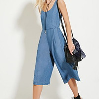 Chambray Culotte Jumpsuit