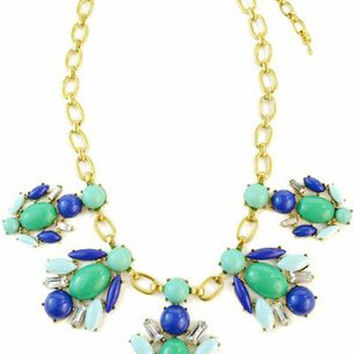 Ritzy Beetle Gem Necklace