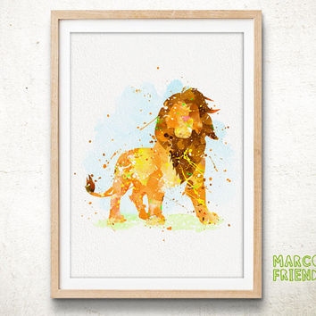 Disney Lion King - Watercolor, Art Print, Home Wall decor, Watercolor Print, Disney Poster