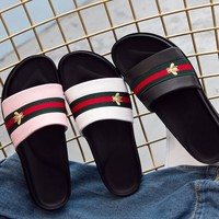 Leather Sandals Summer Thick Crust Casual Peep Toe Slippers [11884978835]