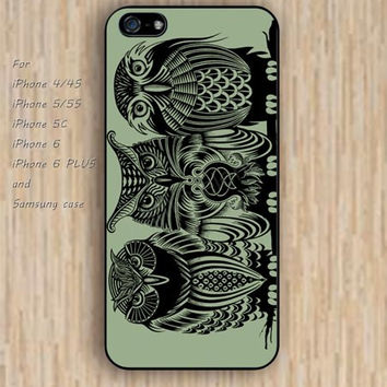 iPhone 6 case owl iphone case,ipod case,samsung galaxy case available plastic rubber case waterproof B052