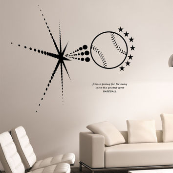 Baseball Wall Decal BURSTING SPACE GALAXY Sticker Art Decor Bedroom Design Mural Sports Lifestyle Home