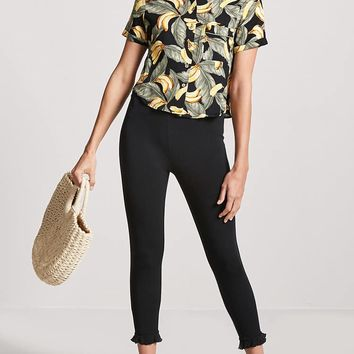 Banana & Palm Leaf Print Shirt