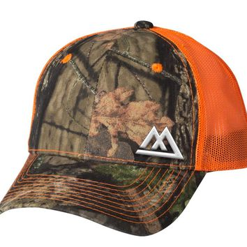 Mossy Oak w/blaze orange Hat