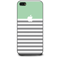 Green and Grey Stripes Apple iPhone 5 | 5s Case