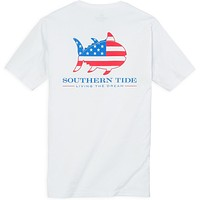 Skipjack Nation Tee Shirt in Classic White by Southern Tide