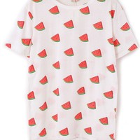 Watermelon Pattern Tee - OASAP.com