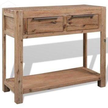 Console Table Solid Acacia Wood 73x33x83 cm