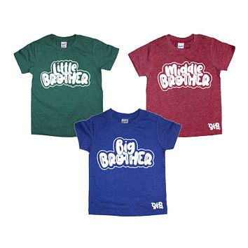 Big, Middle, Little Brother SINGLE TEE or SET