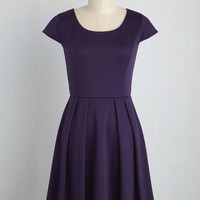 Up to the Minimalist A-Line Dress in Plum | Mod Retro Vintage Dresses | ModCloth.com