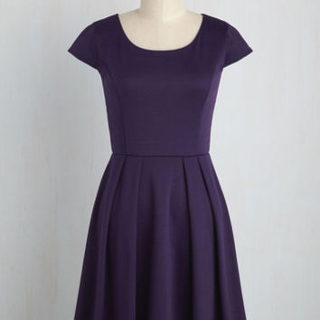 Up to the Minimalist Dress in Plum | Mod Retro Vintage Dresses | ModCloth.com