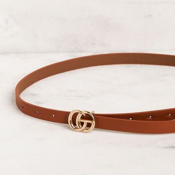 Maison Thin Tan Belt