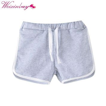 Candy Color Girls Shorts Casual Boys Children Beach Wear Loose Bottom Shorts girl short