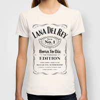 Lana Whiskey Del Rey Daniels (BLACK) T-shirt by Marvin Fly
