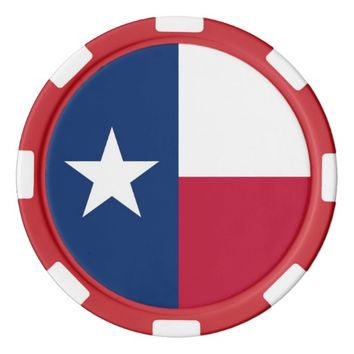 Poker chips with Flag of Texas