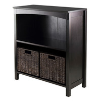 Terrace 3pc Storage 3-Tier Shelf with 2 Small Baskets by Winsome Woods