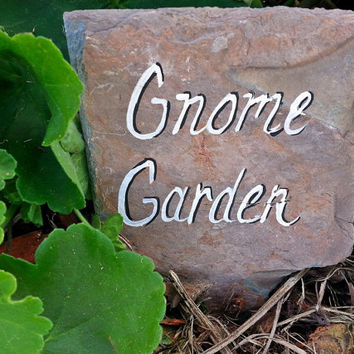 Gnome Garden marker sign
