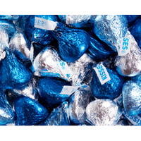 Hershey's Kisses Blue & Silver Foiled Milk Chocolate Candy: 60-Piece B