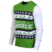 Seattle Sounders FC Wordmark Ugly Sweater - http://www.shareasale.com/m-pr.cfm?merchantID=7124&userID=1042934&productID=554336627 / Seattle Sounders FC