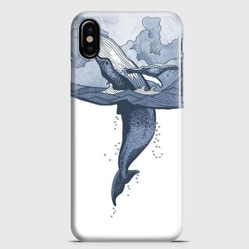 Whale Illustration iPhone X Case | casescraft